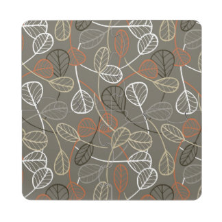 Pattern displaying leaves puzzle coaster
