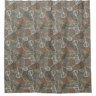 Pattern displaying leaves shower curtain