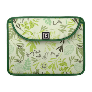 pattern displaying little baby birds sleeves for MacBooks