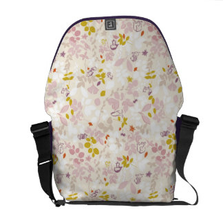 pattern displaying whimsical animals courier bag