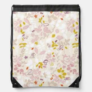 pattern displaying whimsical animals drawstring backpack
