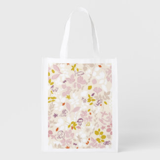 pattern displaying whimsical animals grocery bag