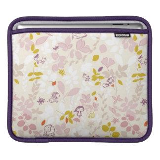pattern displaying whimsical animals iPad sleeve