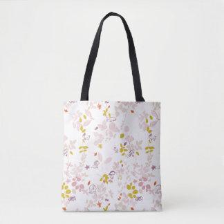 pattern displaying whimsical animals tote bag