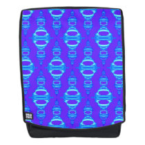 Pattern Dividers 03 closeup Blue and Purple Backpack