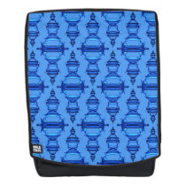 Pattern Dividers 03 closeup Blue over cyan Backpack