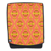 Pattern Dividers 03 closeup Gold and Salmon Backpack