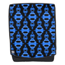 Pattern Dividers 03 closeup Light Blue and Black Backpack