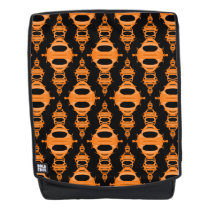 Pattern Dividers 03 closeup Orange Black Backpack