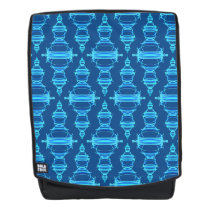 Pattern Dividers 03 closeup Teal Backpack