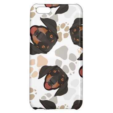 Pattern dog paws dachshund case for iPhone 5C