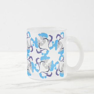 Pattern Dogs Frosted Glass Mug