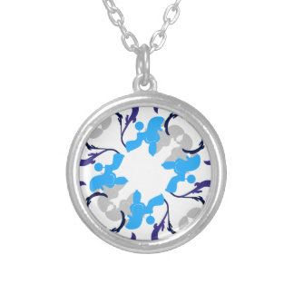 Pattern Dogs Round Pendant Necklace