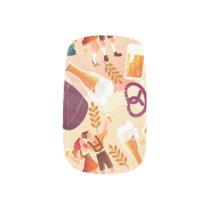 Pattern draft beer wheat beer pilsner Oktoberfest Minx Nail Art