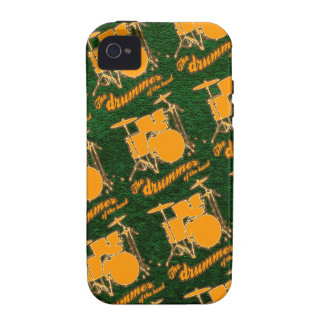 pattern ~ drummers iPhone 4/4S cover