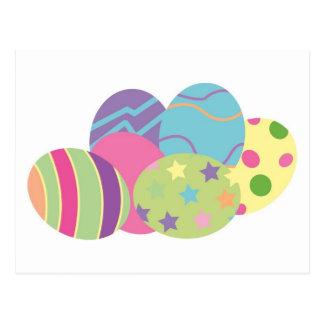 Pattern Easter Eggs Postcard