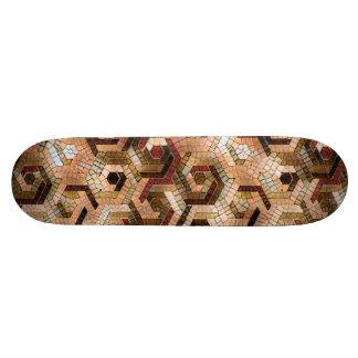 Pattern Factory 23 brown Skateboard Deck