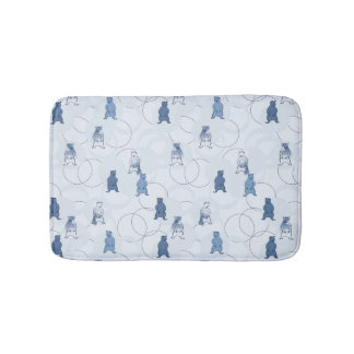pattern featuring a grizzly bear bath mat