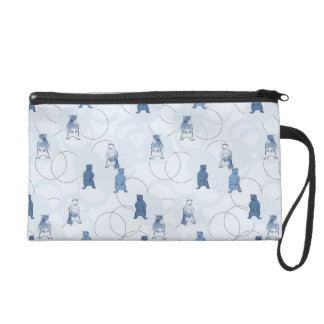 pattern featuring a grizzly bear wristlet purse