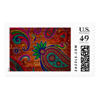 Pattern floral Colorful Wood Texture Background Stamp