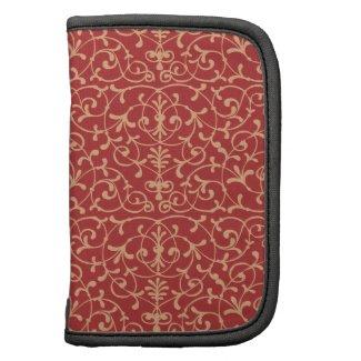 Pattern Floral Dark Red Rickshaw Folio rickshaw_folio