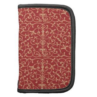 Pattern Floral Dark Red Rickshaw Folio Organizer