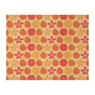 Pattern Flower Cork Cork Paper Print