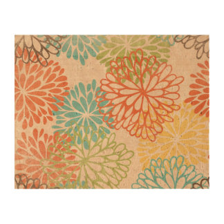 Pattern Flower Cork Cork Paper Prints