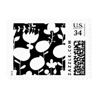pattern flower postage