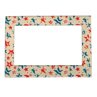 Pattern for 4th of July Photo Frame Magnets
