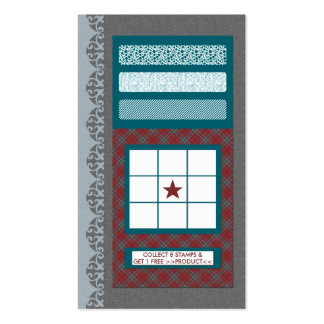 pattern frequent buyer card business card templates