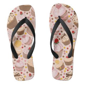 Pattern from celebratory cupcakes flip flops