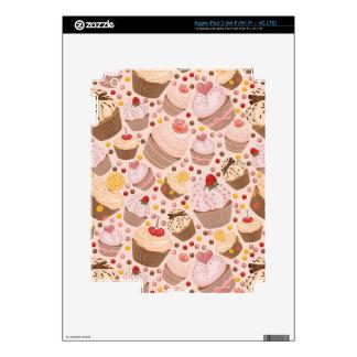 Pattern from celebratory cupcakes iPad 3 skins