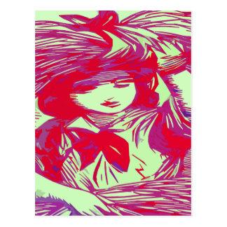 Pattern Girl Postcard