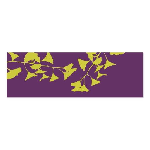 Pattern Glowing Ginkgo Tree Branch Landscape Leaf Mini Business Card