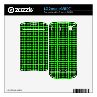 Pattern Green Background with Black Circles LG Xenon Decal