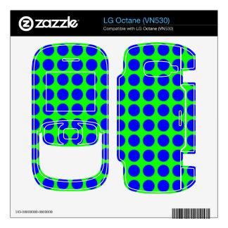 Pattern Green Background with Blue Circles LG Octane Decals