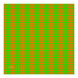 Pattern: Green Background with Orange Circles Poster