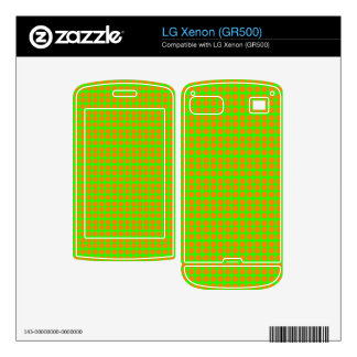 Pattern Green Background with Orange Circles Decal For LG Xenon