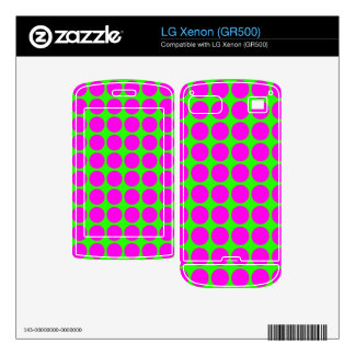 Pattern Green Background with Pink Circles LG Xenon Skin
