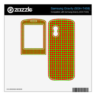 Pattern: Green Background with Red Circles Samsung Gravity Decals