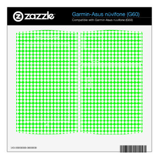 Pattern: Green Background with White Circles Garmin Asus Nuvifone Skin