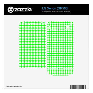 Pattern Green Background with White Circles Skin For The LG Xenon