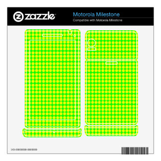 Pattern: Green Background with Yellow Circles Motorola Milestone Skins