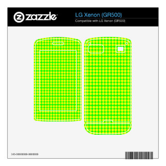 Pattern Green Background with Yellow Circles Decal For The LG Xenon