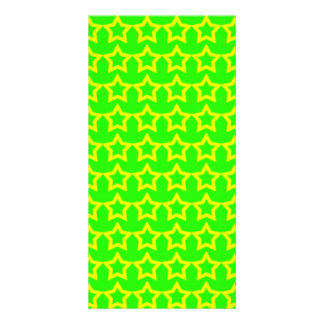 Pattern: Green Background with Yellow Stars Card