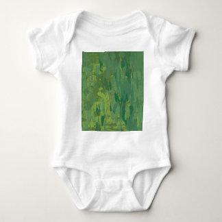 Pattern Green Jungle Camouflage Baby Bodysuit
