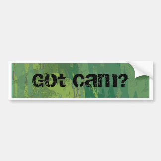 Pattern Green Jungle Camouflage Bumper Sticker