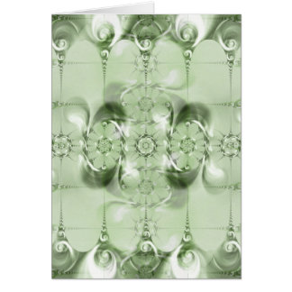 Pattern green no. 4 created by Tutti Card