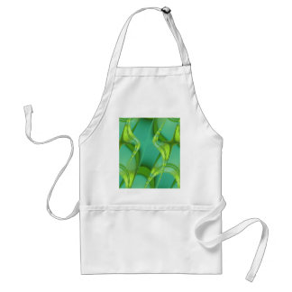 Pattern green yellow created by Tutti Adult Apron